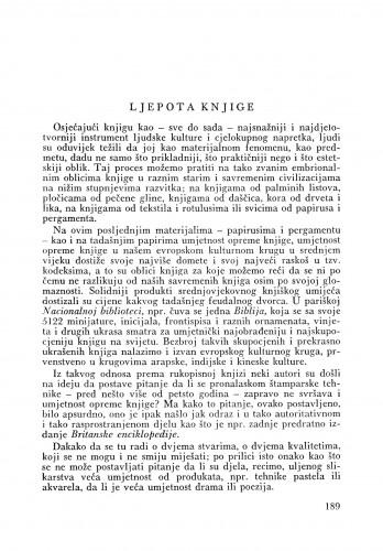 Ljepota knjige : Bulletin Odjela VII. za likovne umjetnosti Jugoslavenske akademije znanosti i umjetnosti