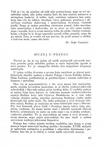 Muzej u Požegi : Bulletin Instituta za likovne umjetnosti Jugoslavenske akademije znanosti i umjetnosti