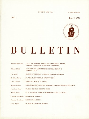 Br. 1(52) (1982) : Bulletin Razreda za likovne umjetnosti Jugoslavenske akademije znanosti i umjetnosti
