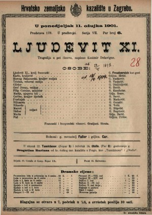 Ljudevit XI. tragedija u pet činova / napisao Kazimir Delavigne