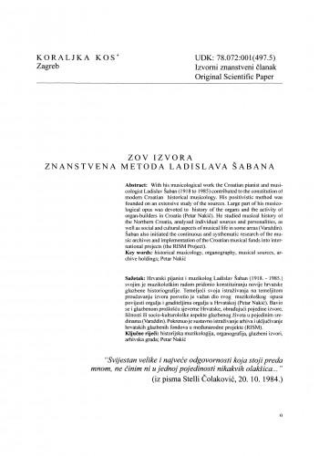 Zov izvora - znanstvena metoda Ladislava Šabana