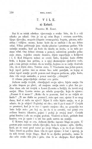 Kotari : vile / M. Zorić