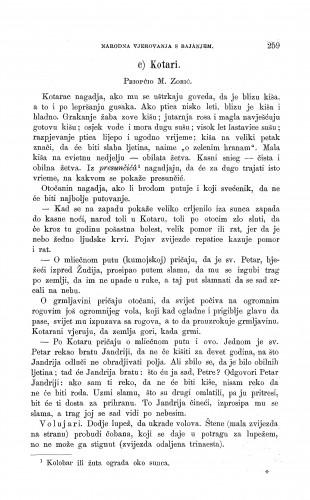 Kotari : gatanje o prirodnim pojavama, o životinjama, o bilinama, o vremenu i u raznim prigodama života : Zbornik za narodni život i običaje