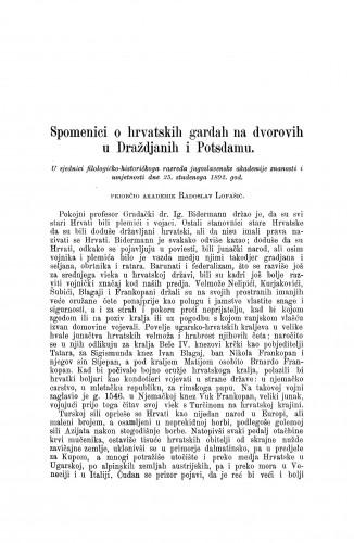 Spomenici o hrvatskih gardah na dvorovih u Draždjanih i Potsdamu / Radoslav Lopašić