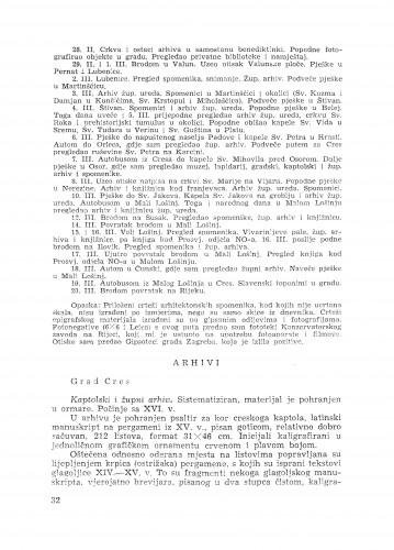 Izvještaj o putu po otocima Cresu i Lošinju / B. Fučić