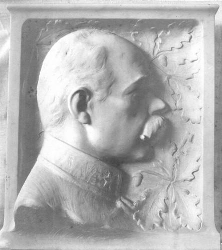 Portretna plaketa nepoznatog časnika