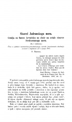 Sisavci Jadranskoga mora