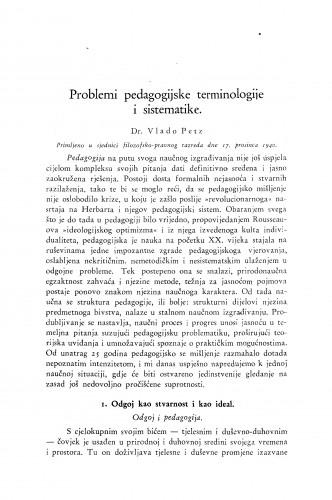 Problemi pedagogijske terminologije i sistematike