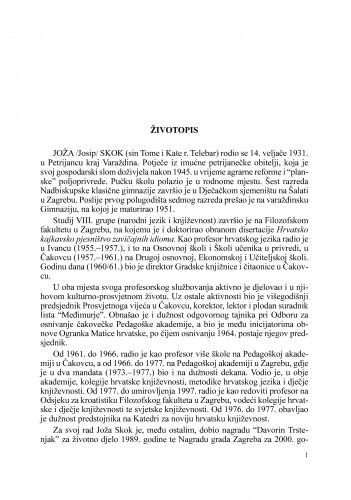 Životopis : Radovi Zavoda za znanstveni rad Varaždin