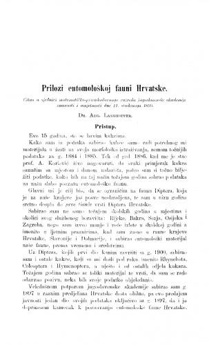 Prilozi entomološkoj fauni Hrvatske