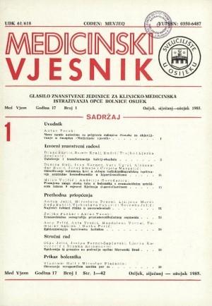 God. 17, br. 1(1985) : Medicinski vjesnik