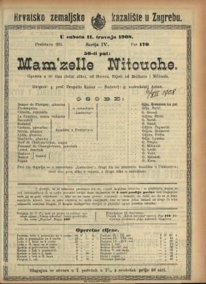 Mam'zelle Nitouche Opereta u tri čina (četiri slike)