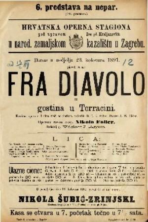 Fra Diavolo ili gostina u Terracini Komična opera u 3 čina