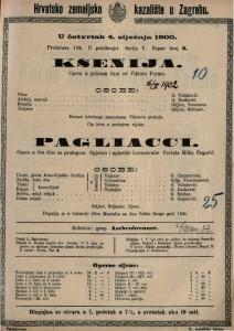 Pagliacci opera u dva čina sa prologom / spjevao i uglazbio Leoncavallo
