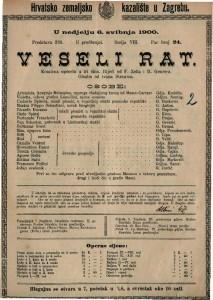 Veseli rat komična opereta u tri čina / glazba od Ivana Straussa