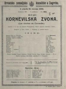 Kornevilska zvona opereta u tri čina / uglazbio Robert Planquette-a  =  Les cloches de Corneville
