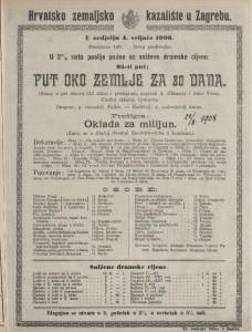 Put oko zemlje za 80 dana gluma u pet činova (13 slika) s predigrom / napisali A. d'Ennery i Jules Verne