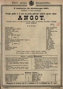 Angot komična opera u tri čina / od Lecocqa