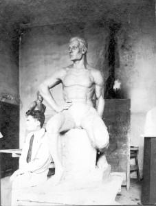 Radauš, Vanja(1906-1975): Sjedeći muški akt ]