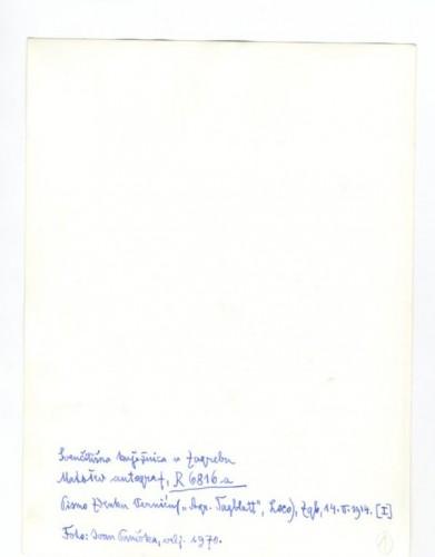Korespondencija upućena Zdenku Verniću