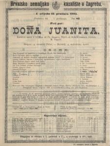 Dona Juanita komična opera u tri čina / od Fr. Suppe-a