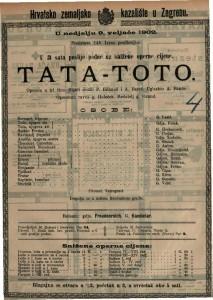 Tata-toto opereta u tri čina / uglazbio A. Banès