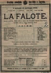 La Falote : opereta u tri čina / uglazbio Louis Varney
