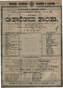 Grčki rob : opereta s plesovima u 2 čina / riječi napisao Owen Hall