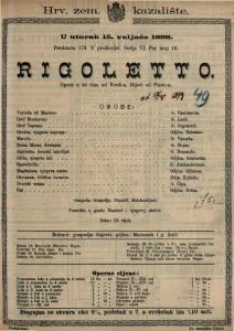 Rigoletto Opera u tri čina / Riječi od Piave-a