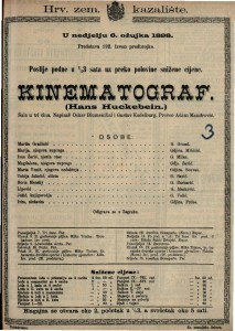 Kinematograf : Šala u tri čina / Napisali Oskar Blumenthal i Gustav Kadelburg
