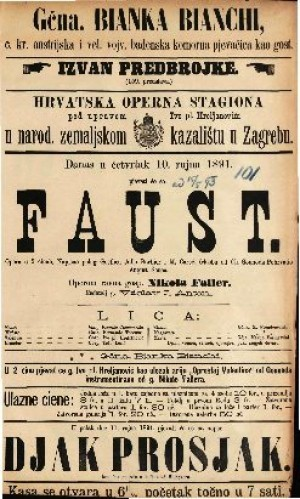 Faust Opera u 5 činah