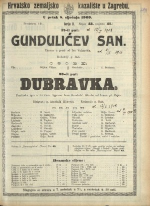 Gundulićev san ; Dubravka : Pjesma u prozi: Pastirska igra u tri čina