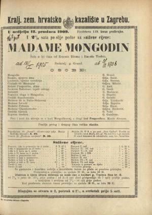 Madame Mongodin : Komedija u tri čina