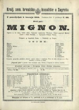 Mignon Opera u tri čina