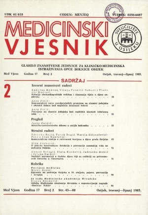 God. 17, br. 2(1985) : Medicinski vjesnik