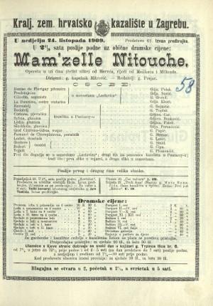 Mam'zelle Nitouche : Opereta u tri čina (4 slike)