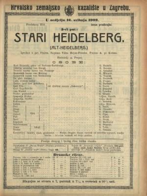 Stari Heidelberg Igrokaz u pet činova  =  Alt-Heidelberg