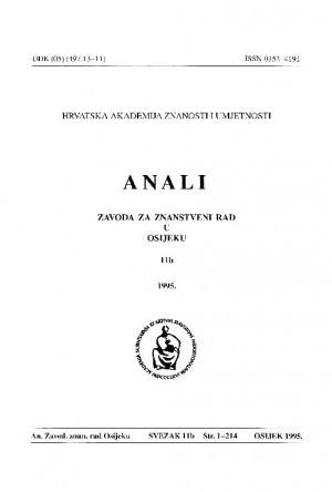 Sv. 11b (1995) : Anali Zavoda za znanstveni i umjetnički rad u Osijeku
