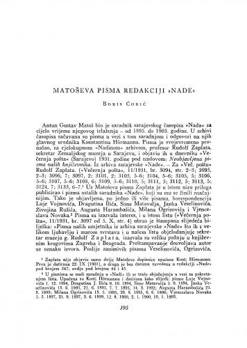 Matoševa pisma redakciji
