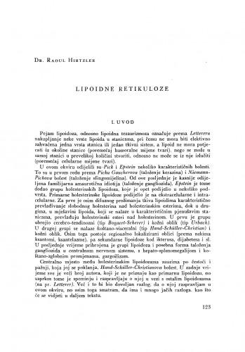 Lipoidne retikuloze