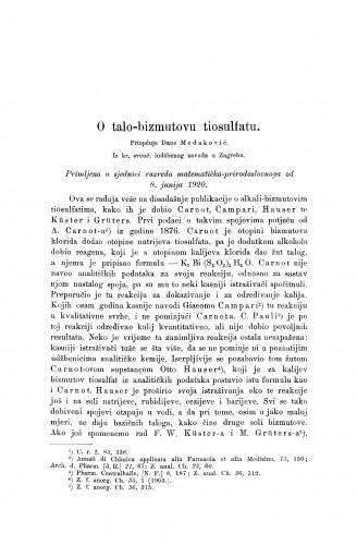 O talo-bizmutovu tiosulfatu