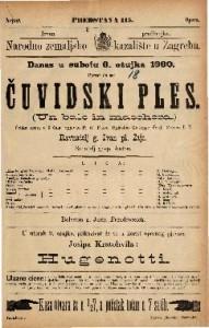 Čuvidski ples Velika opera u 3 čina / Uglasbio Giuseppe Verdi  =  Un balo in maschera