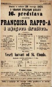 16. predstava Françoisa Rappo-a