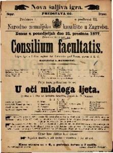 Consilium facultatis šaljiva igra u 1 činu / napisao Jan Aleksander grof Fredro