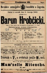 Barun Hrobčicki Drama u 3 čina / napisao Lad. Stroupežnicki