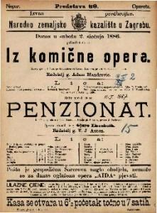Iz komične opere Šaljiva igra u 1 činu / po francezkom od Henry Murger-a