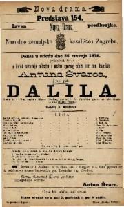 Dalila drama u 4 čina / napisao Octave Fauillet