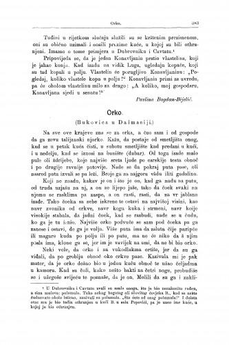 Orko : (Bukovica u Dalmaciji.) / V. Ardalić