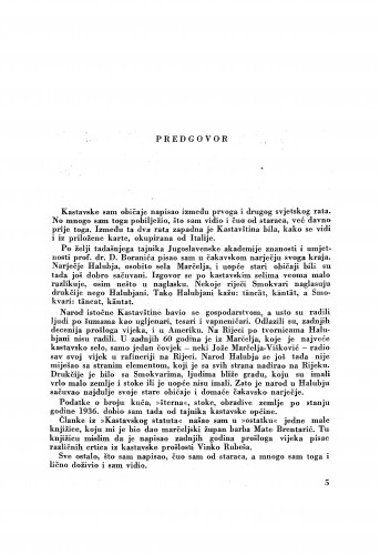 Kastavština : građa o narodnom životu i običajima u kastavskom govoru : Zbornik za narodni život i običaje