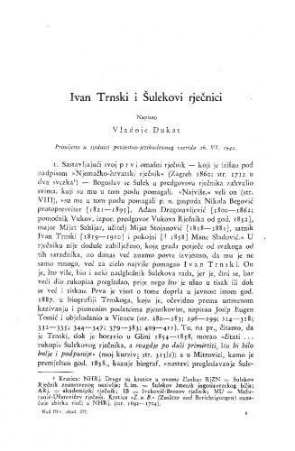 Ivan Trnski i Šulekovi rječnici